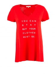 NIKKIE |  T-shirt Stay Or Go | red  | Picture 1