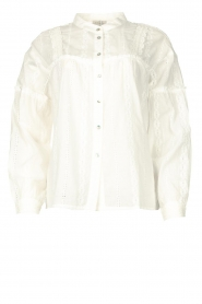 JC Sophie |  Cotton embroidery blouse Ecuador | white  | Picture 1