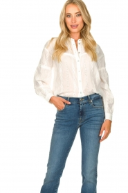 JC Sophie |  Cotton embroidery blouse Ecuador | white  | Picture 2
