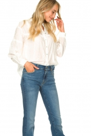 JC Sophie |  Cotton blouse Ecuador | white  | Picture 4