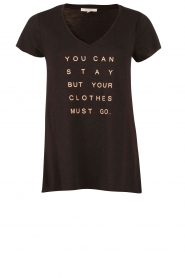 T-shirt Stay or Go | black