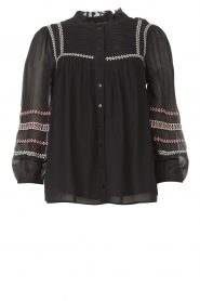 ba&sh |  Blouse with embroided details Celeste | black  | Picture 1