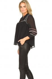 ba&sh |  Blouse with embroided details Celeste | black  | Picture 5