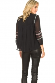 ba&sh |  Blouse with embroided details Celeste | black  | Picture 6