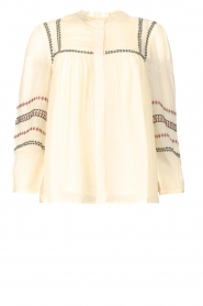 ba&sh |  Blouse with embroided details Celeste | ecru  | Picture 1