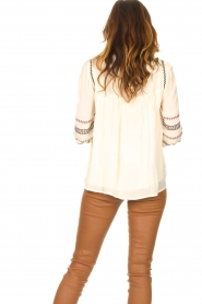 ba&sh |  Blouse with embroided details Celeste | ecru  | Picture 7