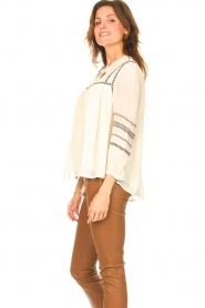 ba&sh |  Blouse with embroided details Celeste | ecru  | Picture 6