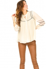 ba&sh |  Blouse with embroided details Celeste | ecru  | Picture 2