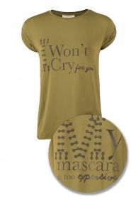 NIKKIE | T-shirt I Wont Cry | olijfgroen   | Afbeelding 1