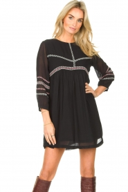 ba&sh |  Embroided dress Colombe | black  | Picture 5
