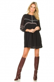 ba&sh |  Embroided dress Colombe | black  | Picture 3