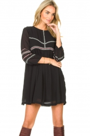 ba&sh |  Embroided dress Colombe | black  | Picture 4