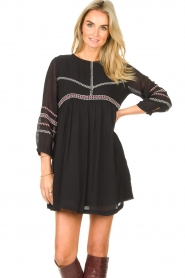 ba&sh |  Embroided dress Colombe | black  | Picture 2