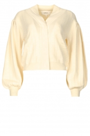 ba&sh |  Cardigan with puff sleeves Damian | ecru  | Picture 1