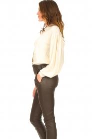 ba&sh |  Cardigan with puff sleeves Damian | ecru  | Picture 5