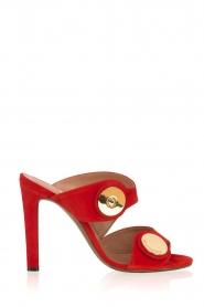 L'Autre Chose |  Suede sandals Luzia | Red  | Picture 1
