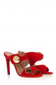 L'Autre Chose |  Suede sandals Luzia | Red  | Picture 3