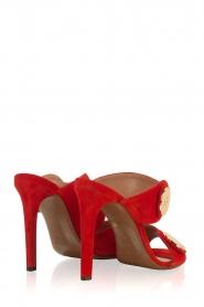 L'Autre Chose |  Suede sandals Luzia | Red  | Picture 4