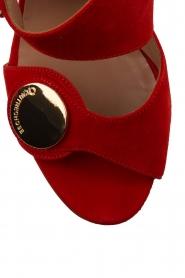 L'Autre Chose |  Suede sandals Luzia | Red  | Picture 6