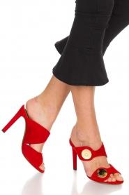 L'Autre Chose |  Suede sandals Luzia | Red  | Picture 2