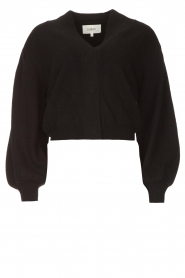 ba&sh    Cardigan with puff sleeves Damian   black    Picture 1