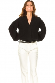ba&sh    Cardigan with puff sleeves Damian   black    Picture 4