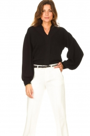 ba&sh    Cardigan with puff sleeves Damian   black    Picture 2