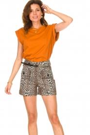 Notes Du Nord |  Brown T-shirt Porter | orange  | Picture 2