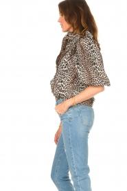 Notes Du Nord | Ruches blouse met luipaardprint Vicky | dierenprint   | Afbeelding 5