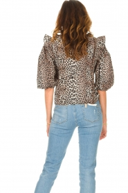 Notes Du Nord | Ruches blouse met luipaardprint Vicky | dierenprint   | Afbeelding 6