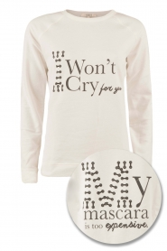 NIKKIE | Sweater I Wont Cry | wit   | Afbeelding 1