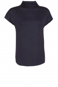 Top met losse col Maura | dark blue