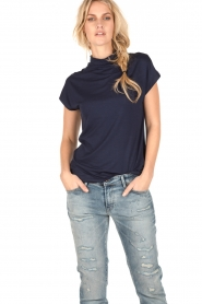 Turtleneck top Maura | dark blue