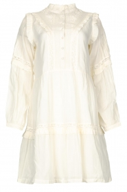 Notes Du Nord |  Broderie dress with ruffles Vivian | white  | Picture 1
