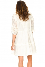 Notes Du Nord |  Broderie dress with ruffles Vivian | white  | Picture 7