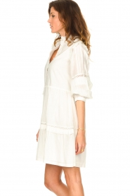 Notes Du Nord |  Broderie dress with ruffles Vivian | white  | Picture 6