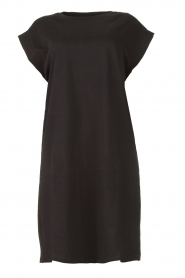 Notes Du Nord |  Dress with padded sleeve cuffs Porter | black   | Picture 1