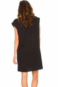 Notes Du Nord |  Dress with padded sleeve cuffs Porter | black   | Picture 7