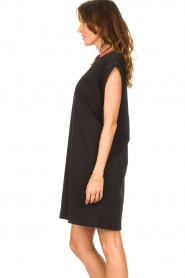 Notes Du Nord |  Dress with padded sleeve cuffs Porter | black   | Picture 6