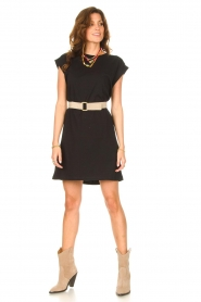 Notes Du Nord |  Dress with padded sleeve cuffs Porter | black   | Picture 3