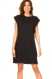 Notes Du Nord |  Dress with padded sleeve cuffs Porter | black   | Picture 5