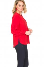 Set | Blouse met geplooide mouwen Lorelei | rood  | Afbeelding 4