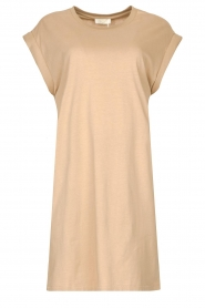 Notes Du Nord |  Dress with padded sleeve cuffs Porter | beige  | Picture 1