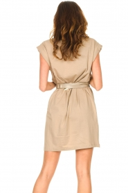 Notes Du Nord |  Dress with padded sleeve cuffs Porter | beige  | Picture 9