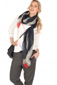 Wollen sjaal Sivel | donkerblauw