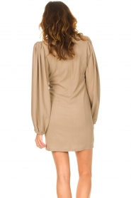 Notes Du Nord    Crêpe dress with puff sleeves Venus: beige    Picture 6