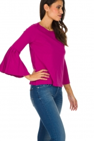Set |  Sweater with pleated sleeves Verla | Pink  | Picture 4