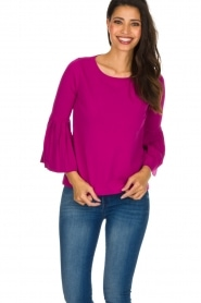 Set |  Sweater with pleated sleeves Verla | Pink  | Picture 2