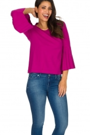 Set |  Sweater with pleated sleeves Verla | Pink  | Picture 3