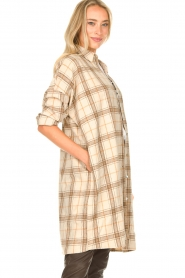 JC Sophie |  Checkered wool blouse Emmylou | beige  | Picture 5